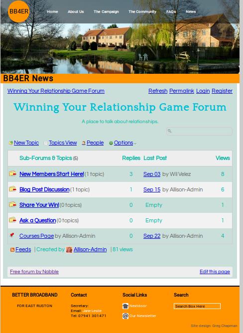 Embedded forum