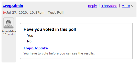 Poll - Before Login