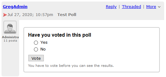 Poll - Test User